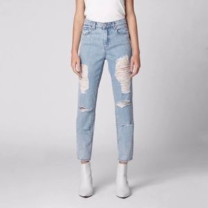 Blanknyc The Rivington High Rise Distressed jeans